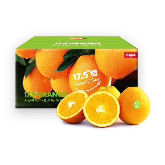 农夫山泉17.5度橙5斤装 江西 2.5KG(12个装)